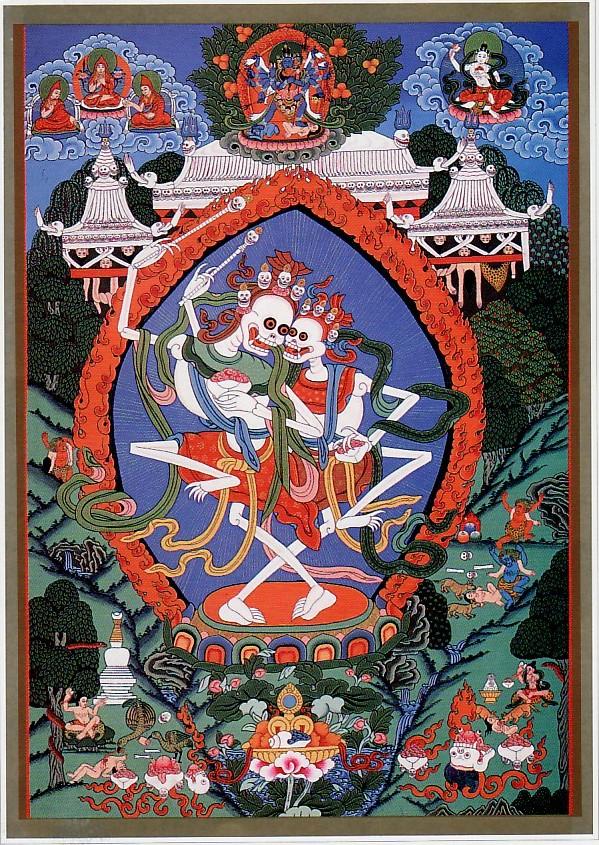 チベット密教 : チティパティ図 ...